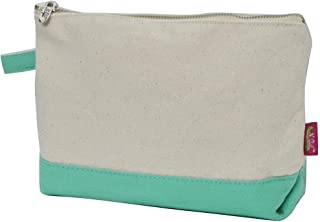 Jute/Canvas NGIL Large Cosmetic Bag Pouch MINT