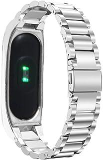XIHAMA For Xiaomi miバンド2 腕時計 メタルバンド ステンレススチール リストバンド ストラップ シャオミ Mi Band 2 交換用フィットネス スポーツブレスレット (シルバー(silver))