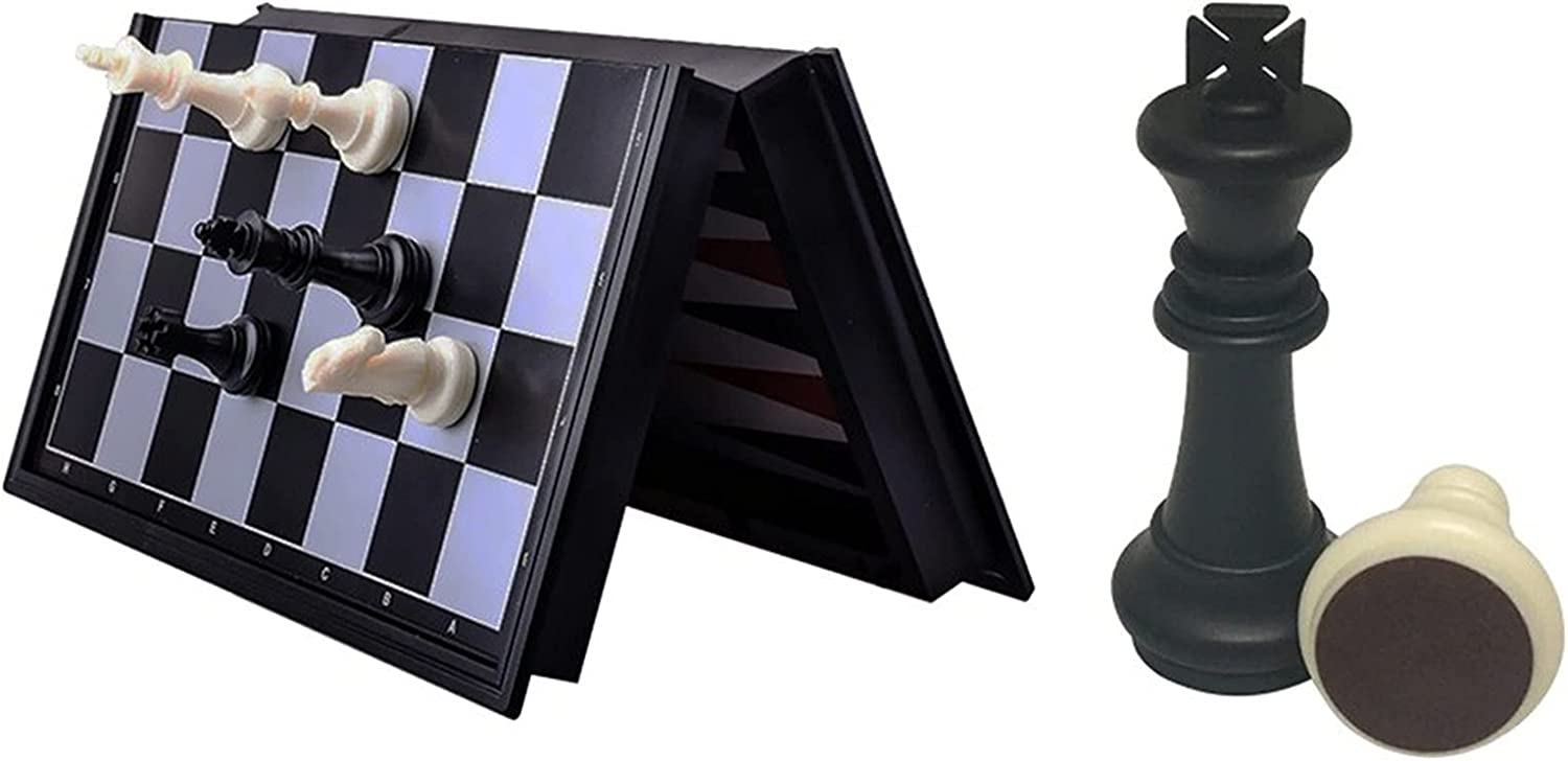 Kansas City Mall MQH Indianapolis Mall Travel Chess Board Set Game Pie Magnetic -Travel