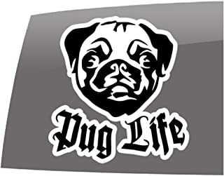 Window Swag Pug Life Car - Color - Decal - Pets - Dogs - Cats - Vinyl Sticker