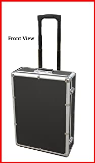 New MegaDisc 1000 Mess-Free Aluminum CD DVD Storage Case Holder Box Black W Removable Trolley and Sleeves without Hanger