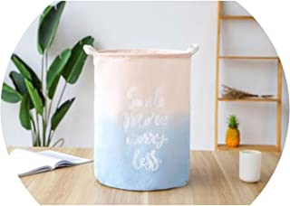 New Folding Laundry Basket White Letter Colorful Gradient Washing Dirty Clothes Storage Bucket Baby Sundries Toys Storage Basket,Color-2