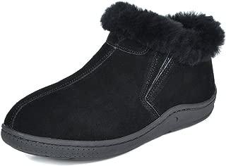 Women's Sheepskin Slip On House Slippers Indoor Outdoor Winter Shoes