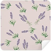 DIYthinker Blue Lavender Bowknot Flower Plant Glasses Cleaning Cloth Phone Screen Cleaner Suede Fabric 2Pcs