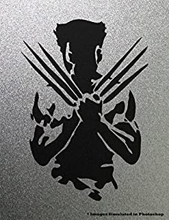 Wolverine X Men Vector Outline Silhouette Logo Symbol Outline Metal Cutout Spray Paint Art