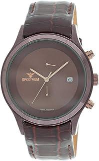 Spectrum Men's Brown Leather Dress Watch