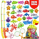GoodyKing Fishing Game Set for Kids - Magnetic Fishing Water Pool Toy for Toddlers - Bath Outdoor Indoor...