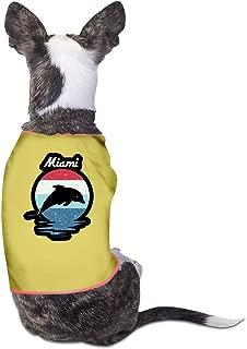 CY SHOP Miami Beach Dolphin Pet Service Pet Clothing Funny Dog Cat Costume Tshirt