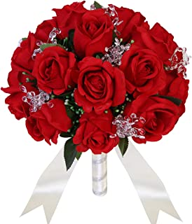 red and black bridal bouquets