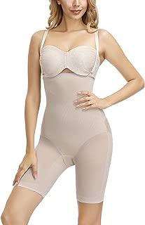 MASS21 Womens Butt Lifter Bodysuit Tummy Control Shapewear Bodysuit Thigh Slimmer Control Panties