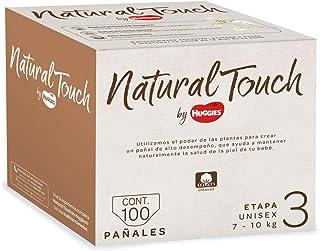 Natural Touch by Huggies, Pañal Desechable para bebé, Unisex, Etapa 3, Caja con 100 piezas, Ideal para Bebés de 7 a 10 kg