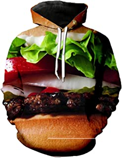 Unisex Food Hamburger Burger 3D Printed Pullover