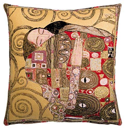 Qui556 Museum Replica Pillow Cover Gustav Klimt Pillow The Fulfilment Klimt Gift 18x18 Belgian Tapestry Cushion Cover
