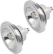 MENGS - Juego de 2 bombillas LED (GU10, ES111, 15 W, LED AR111, repuesto para 120 W, 1400 lm, 120°, blanco neutro, 4000 K, AC 85-265 V, 2 COB, con material de aluminio)