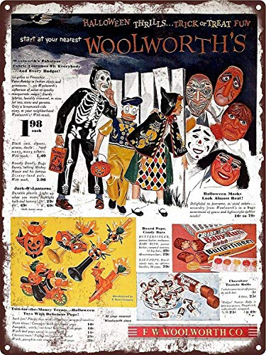 YASMINE HANCOCK Halloween E Rosen Plastic Toys Candy Woolworth Witch CatMetal Plaque Tin Sign Poster Metall Plaque Zinn Logo Poster Wand Kunst Cafe Club Bar Wohnkultur