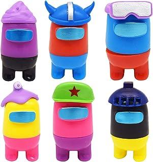 CYSJ 6 PCS Décoration de poupées, Among us Jouets Among Us Figurines Miniatures Hot Game Animal Dolls Toys Among Us Poupée...