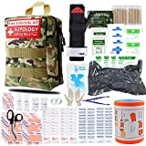 SUPOLOGY Emergency Survival First Aid Kit, 285 pcs Trauma Kit with Tourniquet 36' Splint, Military Combat Tactical IFAK EMT for First Aid Response, Disaster Home Outdoor Camping Emergency Kit