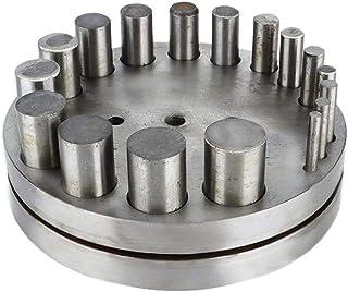 Jadpes Cercle et Disque Rond Cutter Set, 17 Trous équipement de Bijoux Poinçonnage Die Punching Device Dispositif de poinç...