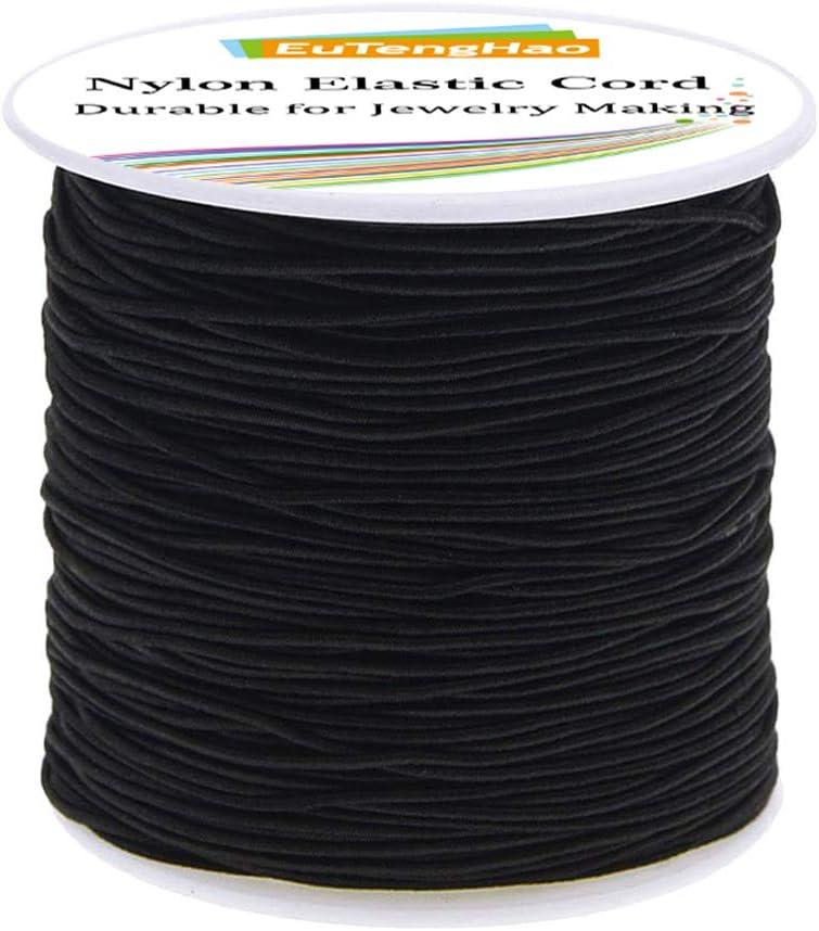 EuTengHao Free Shipping New 1mm Nylon Elastic Cord for Bracelet Satin Decora 4 years warranty