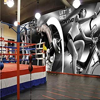 Afashiony Custom Photo Wallpaper Super Clear Sexy Beauty Fitness Club Decorative Painting Gym Bar Casino Background Wall Art 3D Wall Mural Wallpaper-350Cmx250Cm