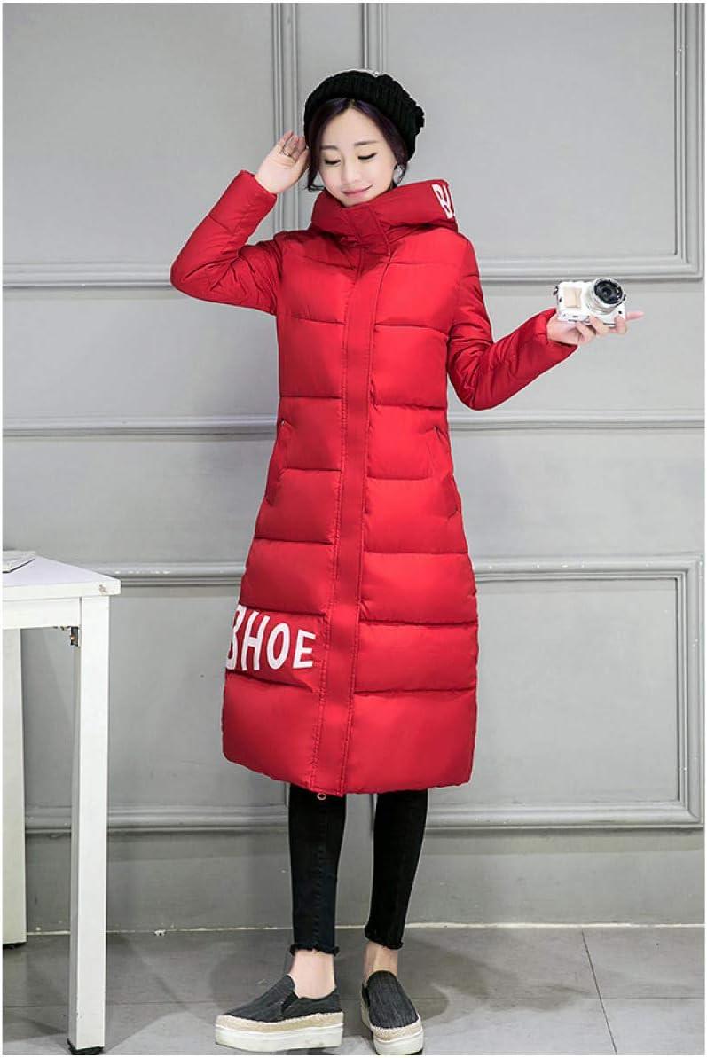 ZTCoats Daunenmantel Damen,Frauen Rote Down Parka Herbst Winter Jacke Frauen Mäntel Weiblichen Oberbekleidung Lange Lady Kleidung Weiß, Baumwolle Rot Frau As shown