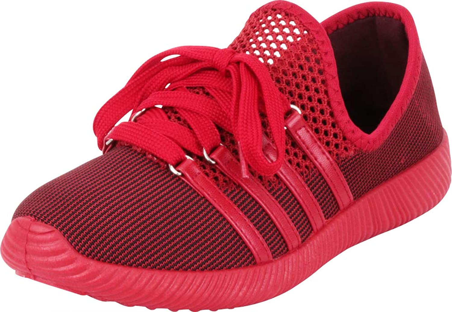 Cambridge Select Women's Breathable Lightweight Mesh Lace-Up Fashion Sneaker