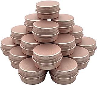 YANGYANG Allenzhang 100pcs 5/10/15/30/50 / 60G Aluminium Can, Bougeoir, Crème, conditionneur, boîte à crème pour Les Yeux,...
