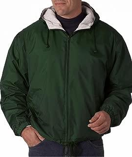 ultraclub adult fleece lined hooded jacket