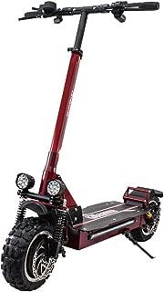 Off-Road Doble Unidad 10 Pulgadas 70 km//h Scooter el/éctrico 52V-21AH-50KM 3600W Potencia Carga m/áxima 150 kg Adultos Scooters Plegables