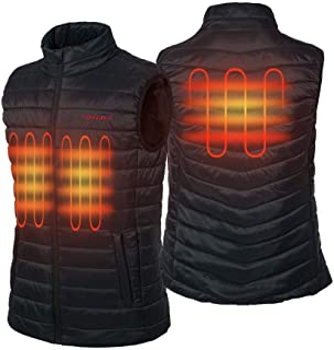 CONQUECO Homme Gilet Chauffant Chaud Thermique Vêtements Imperméable Résistant au Froid pour Usage Quotidien avec USB Batt...