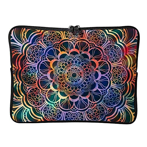 Regular Magical Flower Laptop Bags Pattern Reusable - Bohemian Tablet Cover Suitable for Commuter white6 13inch