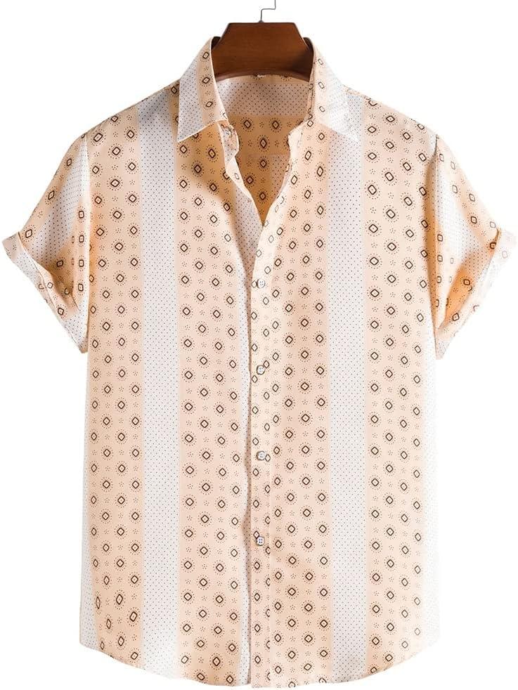 WSSBK Men's Ethnic Style Shirt Summer Printed Max 43% OFF Spasm price Fashion Top
