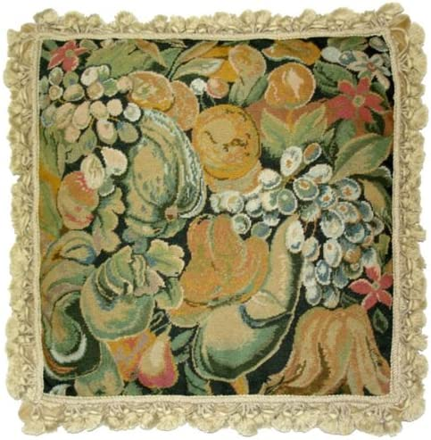 Deluxe Pillows Free Shipping New Fruits - 20 pillow needlepoint Factory outlet x in.
