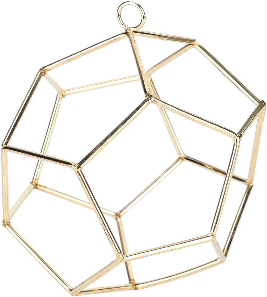 Selling and selling Ladieshow Geometric Shape Metal Hanging Rack G Ranking TOP7 Pl Holder Display