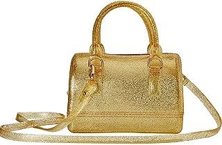 Girls Jelly Mini Candy Handbag Crossbody Shoulder Bags for Summer (Shining Gold)