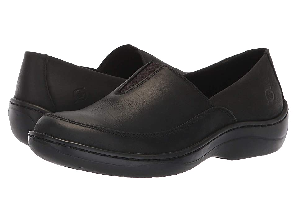 Born Lex (Black Nubuck) Women's Slip on Shoes