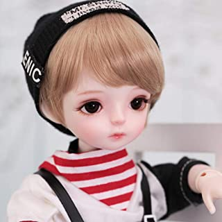 1/6 Boy BJD Doll 10inch Movable Joints SD Dolls Fashion Handmade Doll with Clothes Shoes Wig Makeup Gift Collection Childr...