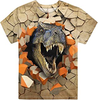 Showudesigns Short-Sleeve T-Shirts for Boys Girls Kids Animal Print Tee Top YouthSize 3-16 Years