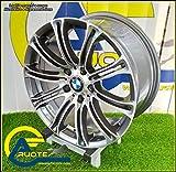 1 AC-MB1 CERCHIO IN LEGA NAD 8 17 5X120 15 72,6 COMPATIBILI CON BMW SERIE 5 E60 E61 TOURING X-DRIVE M SPORT ANTRACITE LUCIDO DIAMANTATO