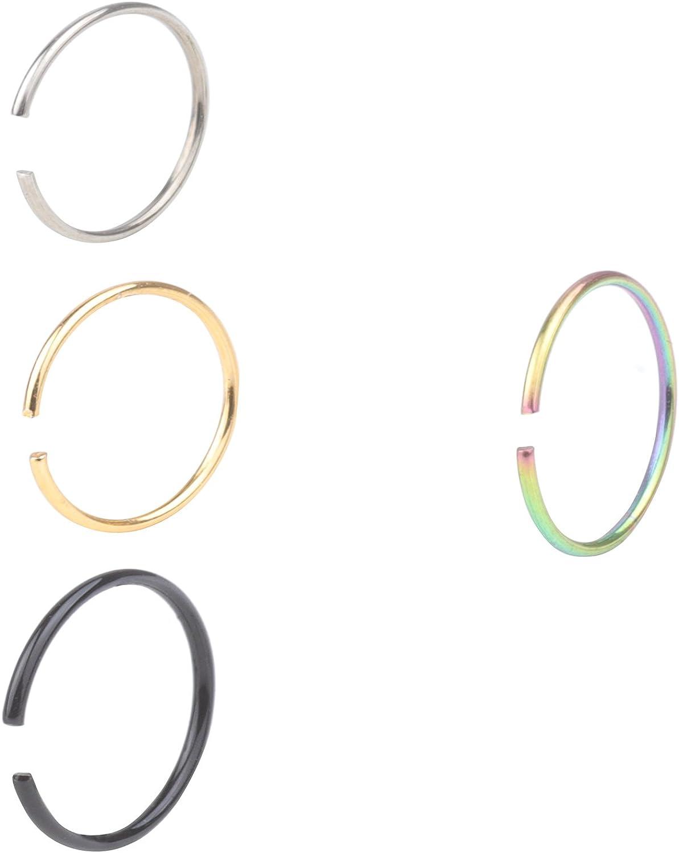 feiyan86 Yans 22G 2-8pcs Surgical Steel Body Jewelry Piercing No