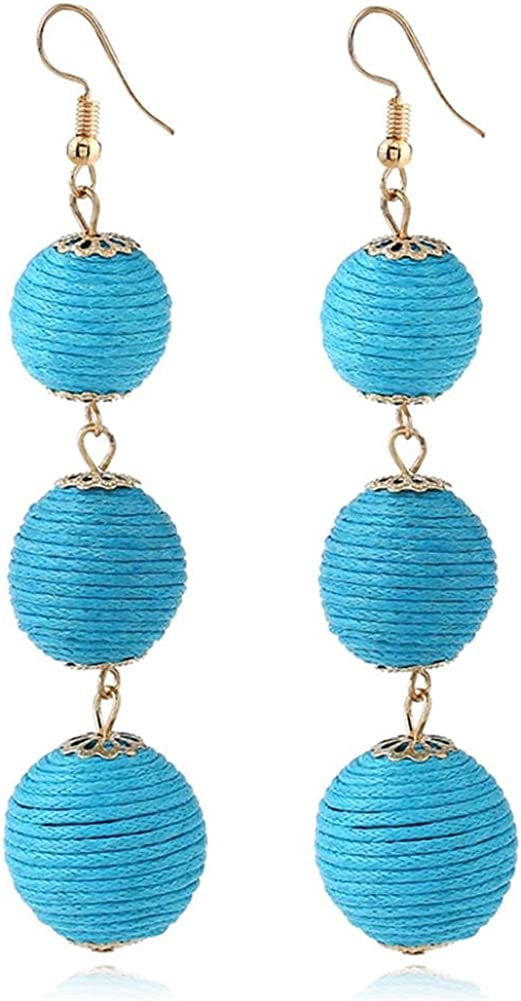Fashion Earrings for Collections Women's Thread Ball Drop