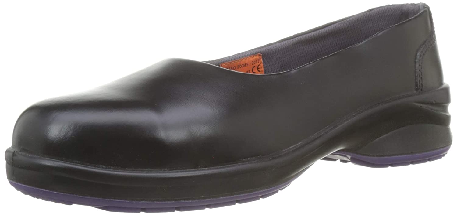 Himalayan 2213 Star S1P Ladies Black Slip On Steel Toe Cap Court Safety Shoes (US 5)