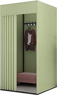 Cabine d'essayage Tissu d'ajustement de l'ombrage verte, salle à végulation temporaire du sol pour Photoshoots de mode BCG...