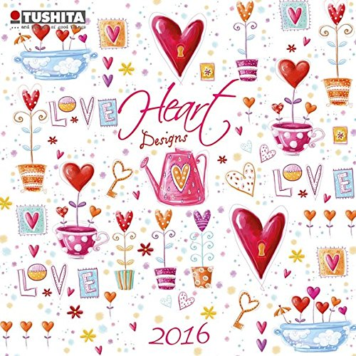 Heart Design 2016: Kalender 2016 (Mini Calendars) (Mini Kalender)