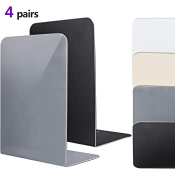 Universal Economy Metal Book Ends for Shelves Heavy Duty Meta Non-skid Bookend