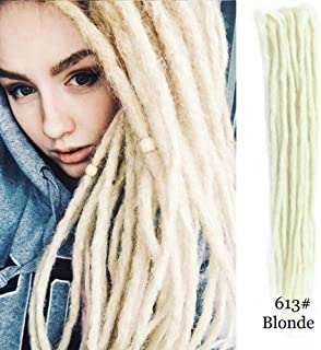 Dsoar Double Ended Dreadlocks Extensions Blonde Synthetic Dreads Hair 20 Inch 10 Strands/Pack Handmade Dreadlocks Extensions Twist Braiding Hair blonde(40 inch, 613#)