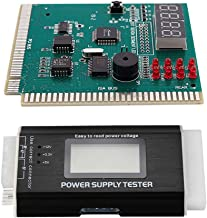 Dcolor ATX, BTX, ITX Power Supply Tester with LCD Display & PC Motherboard Diagnostic Card 4-Digit PCI/ISA POST Code Analyzer