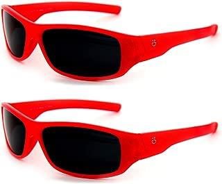 Kids Wraparound Sunglasses for Boys and Girls – Non Polarized Smoke Lenses With Gray Tint - by Optix 55