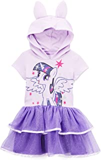 My Little Pony Twilight Sparkle Toddler Girls' Costume Ruffle Dress, Lilac, 2T