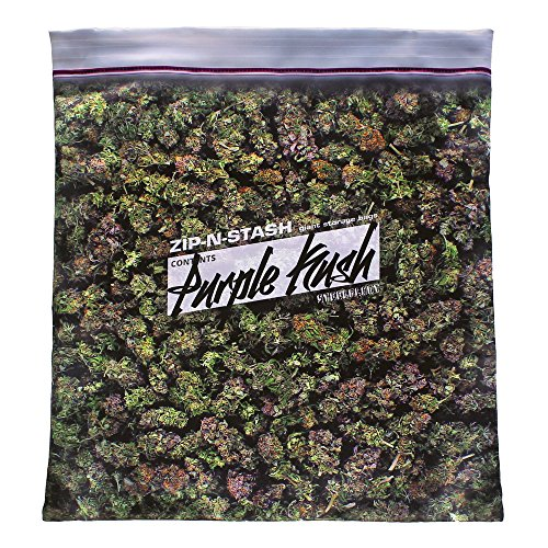 steelplant Purple Kush Stash - Baggie of Cannabis Weed Pillowcase
